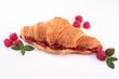 croissant with raspberry