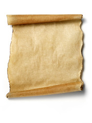 antique blank parchment scroll