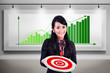 Businesswoman meet target profit sales