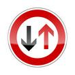 verkehrszeichen v2 gegenverkehr hat vorfahrt I