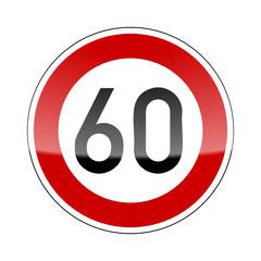 verkehrszeichen v2 tempo 60 I