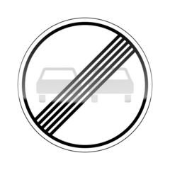 verkehrszeichen v2 ueberholverbot aufgehoben I