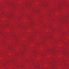 Red seamless pattern with roses