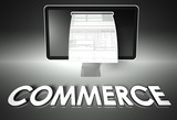 Screen and invoice with Commerce, Tax poster