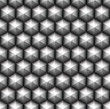 Grid of seamless hexagons