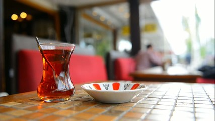 Turkish tea in a glass beaker