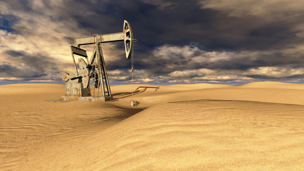 Oil field at  sand