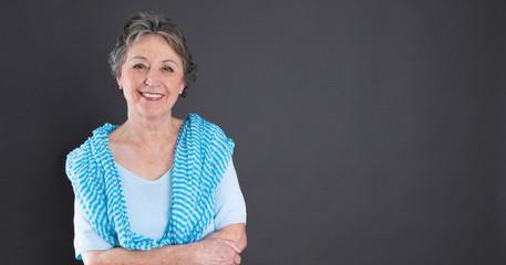 Ältere Frau - in den besten Jahren als Hintergrund