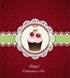 Valentines day vintage card. Vector