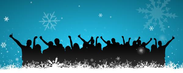Winter Schnee Party Menschen
