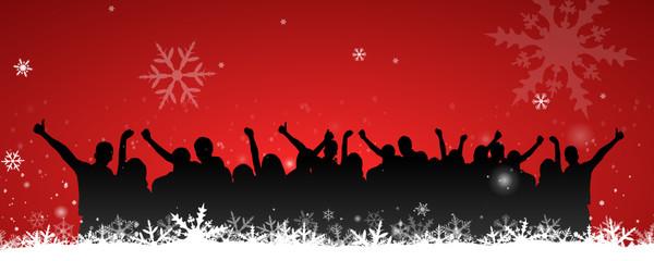 Menschen Party Winter Schnee