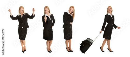 Photos of businesswomen with travel bag