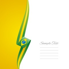Brazilian left side yellow brochure cover vector