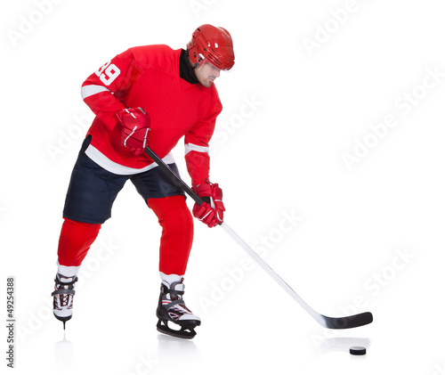 Professional hockey player skating on ice