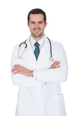 Portrait Of Friendly Male Doctor