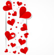 Happy valentine day background with love hearts banner