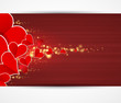 Happy Love background with hearts valentine day card banner