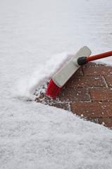 Schnee kehren und fegen