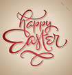 HAPPY EASTER hand lettering (vector)