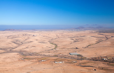 Fuerteventura, view north from Tindaya