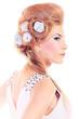 roses in hair