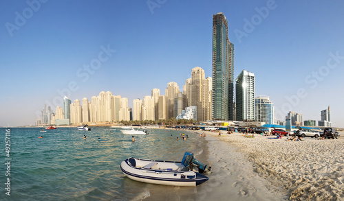 Dubai Marina from Sea Side