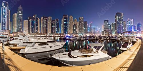 Dubai marina yachtclub at night - 49257194