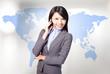 business woman operator