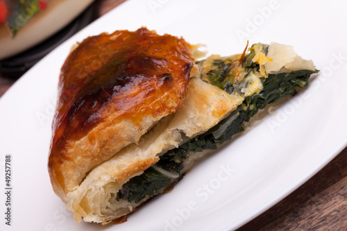 Piece Of Italian Pie With Chard