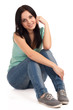 canvas print picture - Teenage girl sitting