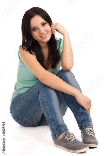 canvas print picture Teenage girl sitting