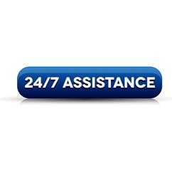 24 hour assistance button blue