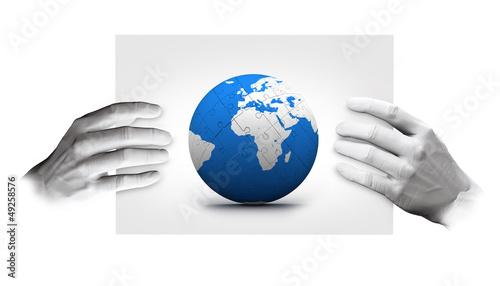 hand world