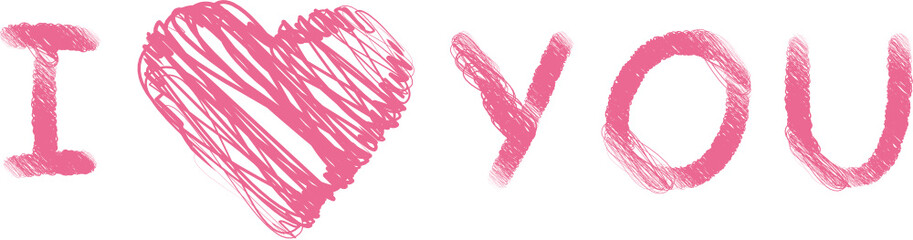 I love you - pink - Liebe - Herz - Romantik