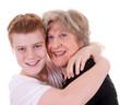 Enkel und Großmutter