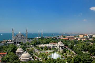 Bluemosque from Hagia Sophia minaret - Minareden Sultanahmet