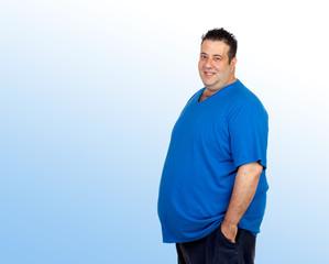 Happy fat man