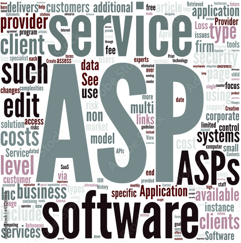 Application service provider Concept