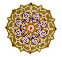 Gros plan d'une mosaïque oriental coloré