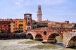 Ancient Roman bridge in Verona, Ponte di Pietra