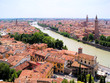 View over the historic city of Verona, Italy