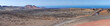 Panorama from volcanic hill on Lanzarote. Canary Islands.