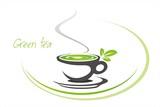green tea, tea leaves , icon, business logo design