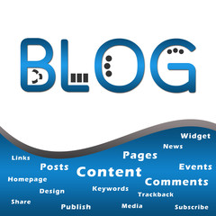 Blog Blue with Keywords