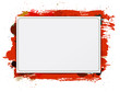Vector paper banner  background grungy paint watercolor red