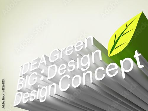 Panel of font 3d, idea concept design