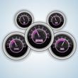 Speedometer interface background.