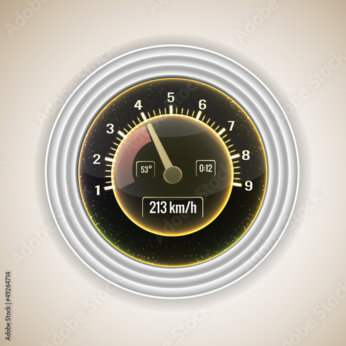 Speedometer interface background.