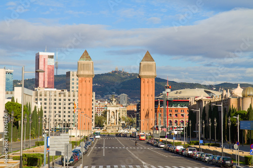 square of Spain with venetian towers, Barcelona