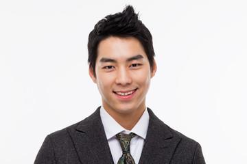 Asian young business man close up shot.
